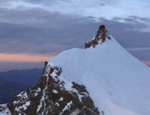 Veduta del ghiacciao Gorner sul Monte Rosa